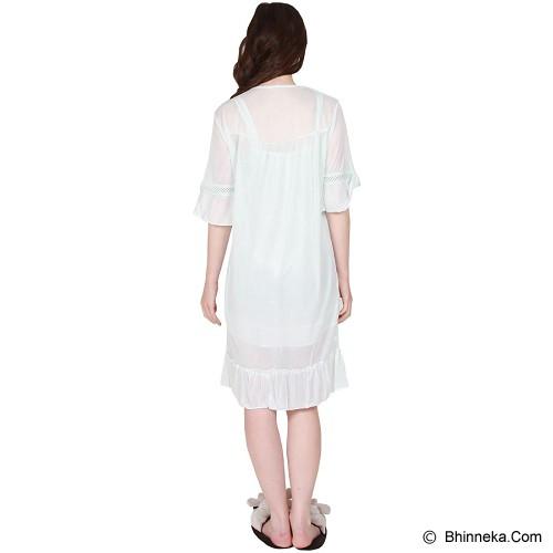 YOU'VE Andrea Lace Sleepwear [010] - Blue - Baju Tidur Wanita Terusan